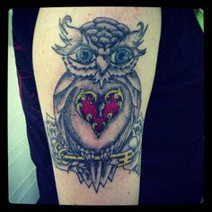 My owl with a touch of color! By Jim Kaleta