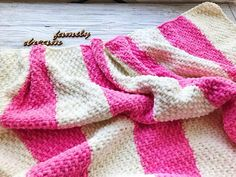 Two year old baby blanket Pink girl knitted baby blanket Plush