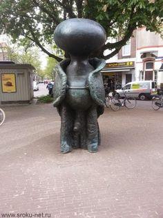 A sculpture in Amsterdam...
