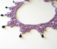 Patrón de ganchillo PDF collar de Mina Harker por JeweledElegance