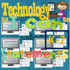 Technology I Can Statements for the K-2 Computer lab. 50 half-page I Can Statements designed from the ISTE NETS for Students. $