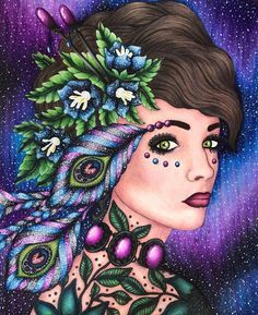 Magisk gryning ❤️ by @hannakarlzon  I used prismacolors,caran d ache luminance, atyou spica glitter pens and white gel pen  #magiskgryning #magicaldawn #hannakarlzon #målarbok #adultcoloringbook  #prismacolor #carandache  #prismacolorpremier #bayan_boyan #arte_e_colorir #divasdasartes #fangcolourfulworld #colorindolivrostop #boracolorirtop #coloring_secrets #beautifulcoloring #desenhoscolorir #artecomoterapia #enchantedcoloring #coloringmasterpiece #majesticcoloring #tabrakwarna…