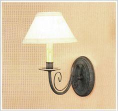 "2043-1  IRON WALL LAMP HT 13""  W 7"" PROJ 12.5"""