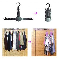 Space Saving Foldable and Magic Hanger