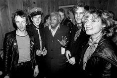 Topper Headon, Joe Strummer, David Johansen and Debbie Harry at New York's Palladium, 1979.