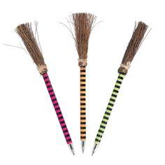 Bright+Color+Witch+Broom+Pens+-+OrientalTrading.com