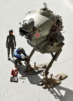 MASCHINEN KRIEGER  Ma.k SF3D zbv3000 KROTE by zbv1975 Steampunk, Gundam, Sculpture Metal, Arte Robot, Retro, Arte Cyberpunk, 3d Figures, Robot Design, Maker