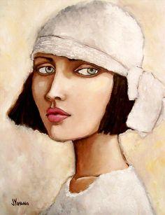Painting by Jennifer Yoswa. Portrait Art, Face Art, Figurative Art, Art Girl, Painting & Drawing, Art Drawings, Contemporary Art, Illustration Art, Illustrations
