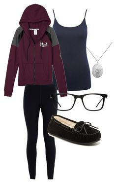 """""""Untitled #246"""" by fredweasleygirl ❤ liked on Polyvore featuring M&Co, Victoria's Secret, NIKE, Minnetonka and GlassesUSA"""