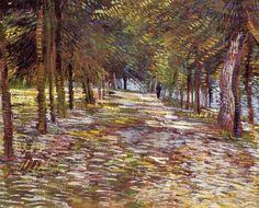 """""""Avenue in Voyer d'Argenson Park at Asnières"""" (Paris, summer 1887)"""