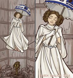 """Finished the full-color version! """"Leia's Corruptible Mortal State""""http://society6.com/KarenHallion/Leias-Corruptible-Mort..."""