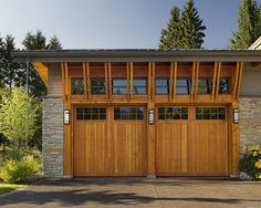 Solid Wood Garage Doors Design, Pictures, Remodel, Decor and Ideas - page 28