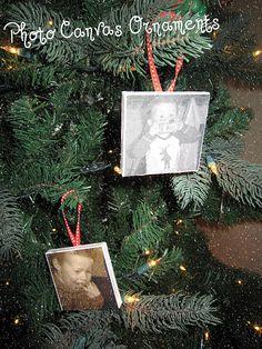 Photo Canvas Ornaments