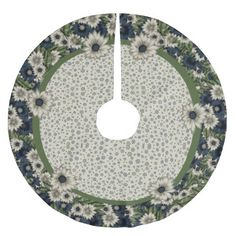 Cottage Chic Floral Christmas Tree Skirt