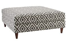 Maybe more for my livingroom than the studio. But, dang, a GREAT deal, right? Tory Ottoman, Graphite on OneKingsLane.com
