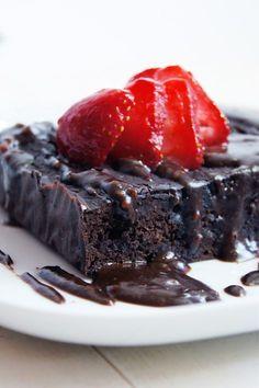 Fit brownie z fasoli (6 składników) Healthy Sweets, Healthy Cooking, Cooking Recipes, Healthy Recipes, Eat Happy, Chocolate Chip Cake, Food Cakes, Sweet Desserts, Food Inspiration
