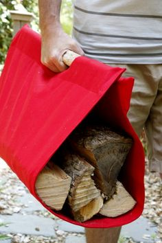 Learn how to make an easy tote to carry wood to the fire for your summer gatherings.