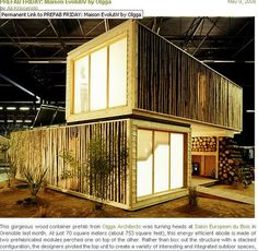 Prefab bamboo style homes by lessmoneymoreliving