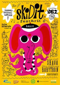 Skidit festarit Helsingissä 27.6. Kirjasto on myös mukana festaritunnelmassa :)