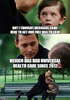 """And the lunatic Left in the U.S. wants us to have the same """"universal healthcare"""" that people run away from in Mexico and Cuba. -mac"""