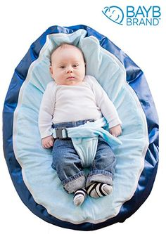 Amazon.com : BayB Brand Bean Bag for Babies - Filled, Ready to Use - Ships in 24 Hours! (Blue/Blue) : Toddler Beds : Baby