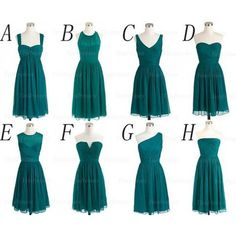 The Teal bridesmaid dresses are fully lined, 8 bones in the bodice, chest pad in the bust, lace up back or zipper back are all available, total 126 colors are available. Most brides order all bridesmaid dresses at a time, we recommend this way, firstly, we could use the same roll material to mak...