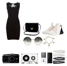 """""""Sin título #128"""" by laura-bernaez on Polyvore featuring moda, Moschino, NARS Cosmetics, Forever 21, Cutler and Gross, Bling Jewelry y adidas Originals"""