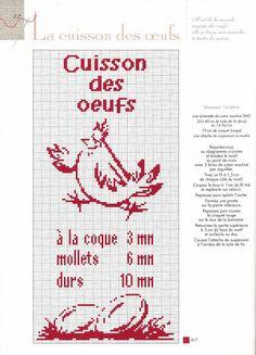 Point de croix : ❤️*❤️ Cuisson des œufs