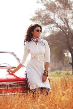 Summer Collection 2012  Copyright © W For Woman. All rights reserved.  #white #kurta #woman #w #ethnic #india #clothing #scarf #wear #red #car #kurti #colors