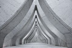 sihlcity. zurich, switzerland.  interior circus tent shape repeated surreally