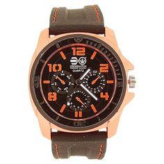 Cross Hatch Gents Chrono Effect Metalic Orange Bezel Black Silicone Watch Watches, Orange, Metal, Accessories, Black, Wristwatches, Black People, Clocks, Metals