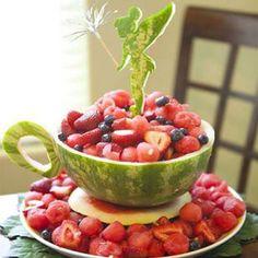 Very Intricate Watermelon Teacup