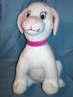 "101 Dalmatians ""Oddball"" Disney Plush Puppy White No Spots 18"" Stuffed Animal | eBay"