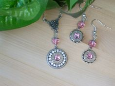 Bullet Jewelry 38 Special P Remington Peters October Birthstone Necklace and Earrings by MyTabbyBoutique, $48.00