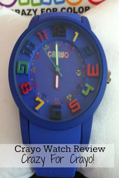 Love this fun and festive watch! Crayo watch review and a great gift for those who love watches!