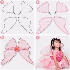 Pohádkové Wings, 21 Co dělat s Tulle kromě tutusmake your own fairy tutu dress tulleAfbeeldingsresultaat voor make fabric fairy wings OrganzaArtsy Tips for Making Beautiful and Attractive Fairy WingsDon't we all love fairies and their beautiful w Tulle Projects, Tulle Crafts, Fun Crafts, Sewing Projects, Diy Tutu, Diy Fairy Wings, Diy Wings, Sewing For Kids, Diy For Kids