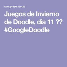 Juegos de Invierno de Doodle, día 11 ❄️ #GoogleDoodle
