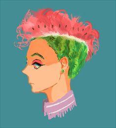 Watermelon mohican : trop cute!