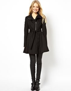 Image 4 of ASOS Biker Skater Trench