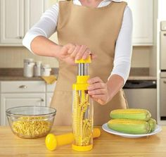 Corn Cutter~Stripes the Cob~No Mess~Great for Freezing #nihao