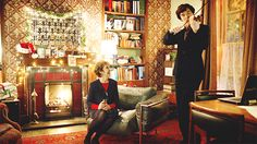 Find images and videos about christmas, benedict cumberbatch and sherlock holmes on We Heart It - the app to get lost in what you love. Sherlock Holmes Bbc, Moriarty, Benedict And Martin, Mrs Hudson, Bbc Tv Series, 221b Baker Street, John Watson, Johnlock, Martin Freeman