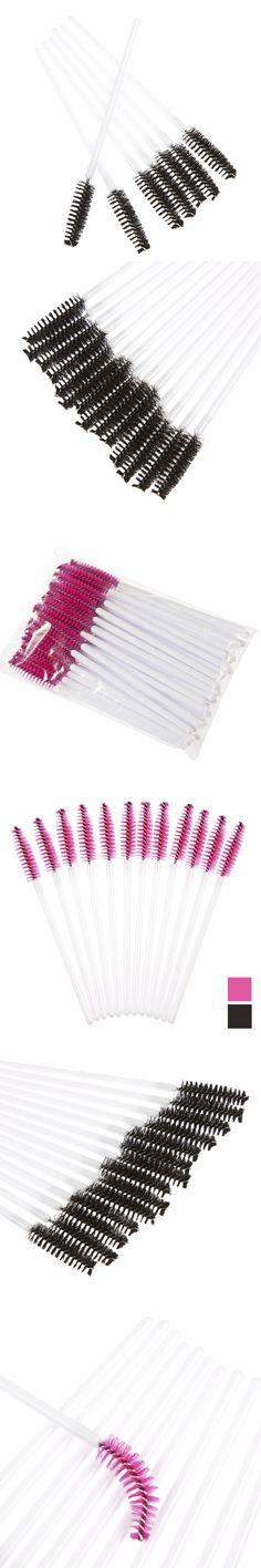 50Pcs/Pack Disposable Eyelash Brushes Mascara Wands Applicator Wand Brushes Eyelash Comb Brushes Spoolers Makeup Tool Kit AP253