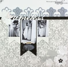 Timeless Divine #Wedding Day Additions #Scrapbooking Layout from Creative Memories    http://www.creativememories.com