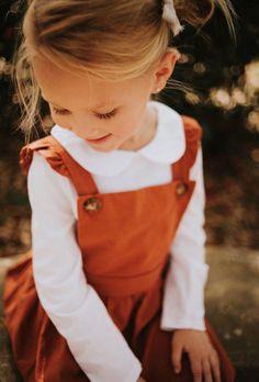 Handmade Heirloom Collection Organic Cotton Pinafore Dress | BohemianBabies on Etsy