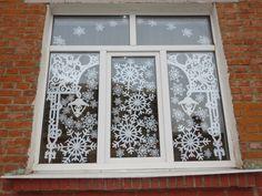 Мастер Класс!: Новогоднее настроение Diy And Crafts, Paper Crafts, Window View, Xmas Decorations, Holiday Crafts, Paper Art, Windows, Outdoor Decor, Projects