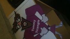 Tommy triangle paper craft www. dltk-teach. com week 10