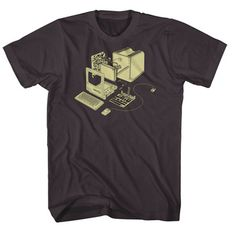Exploded Computer Men's Tee Gray  by Garry Booth