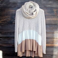 ruffle me up sweater tunic , taupe sheer lightweight knit boho bohemian hippie southern country girl sweet darling women's fall winter