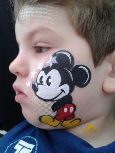 Mickey nana face painting