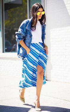 street style calça azul